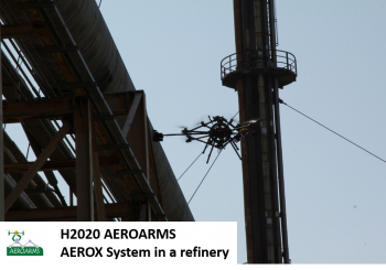 AEROARMS experiments on gas refinery in Germany